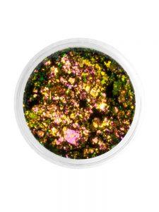 Слюда Юки Grattol - Арт. SYU1179 Розовый, золотой, зеленый