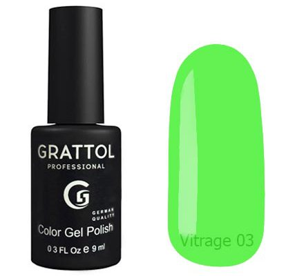 Гель-лак Grattol Color Gel Polish Vitrage 03 - Арт. GTVR03