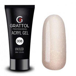 Grattol Acryl Gel 08 с шиммером - Арт. GTAG08